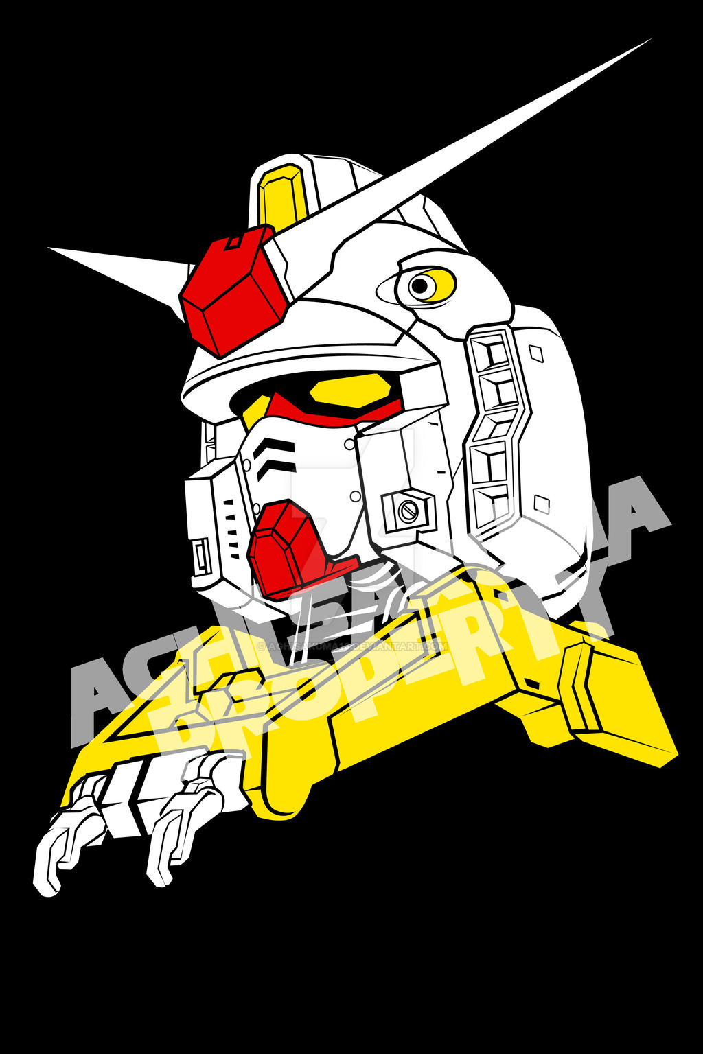 RX-78 T ... RX-78-2 Gundam (for my T-Shirt) by aghisakuma18