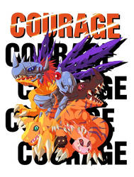 Digimon SET - Courage by davidalex