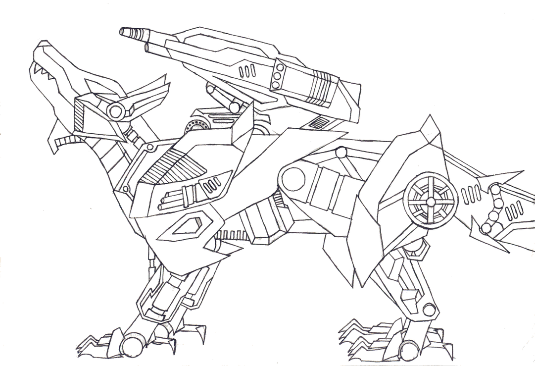 zoids shadow wolf by dragon nataku on deviantart