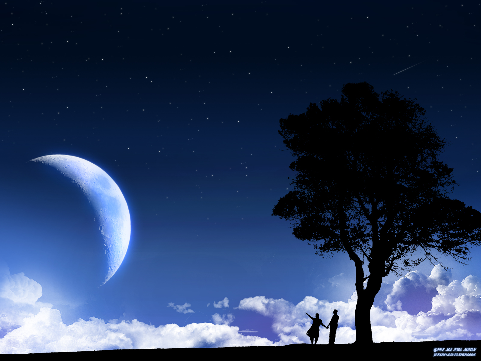 Moon Night wallpapers Love