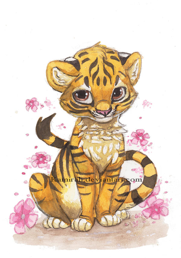 how to draw chibi tiger