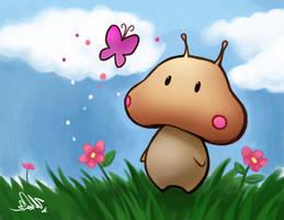 Mushroom Alien: Butterfly by zeldacw