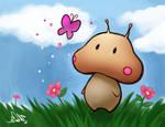 Mushroom Alien: Butterfly