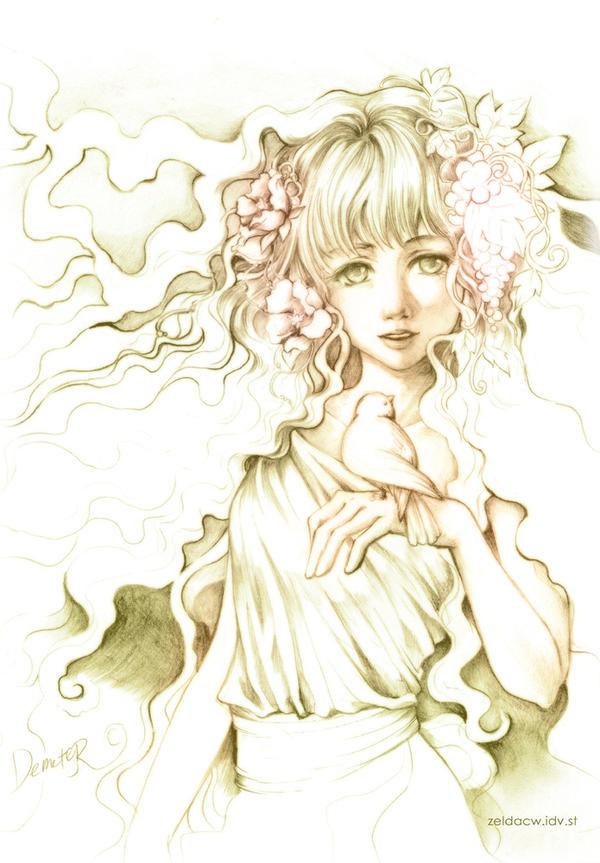 demeter greek goddess drawing - photo #26