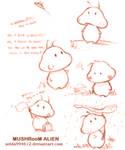 Mushroom Alien: sketch