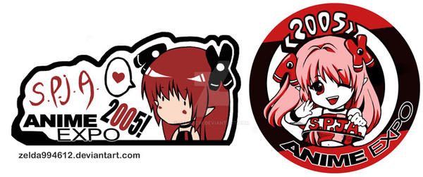 AX 2005: Pin designs by zeldacw