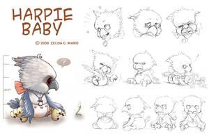 Harpie Baby by zeldacw
