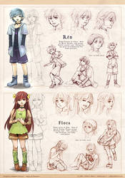 ROF: Twins Character Design by zeldacw