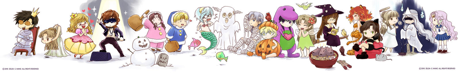 MYth: Trick or Treat line-up by zeldacw