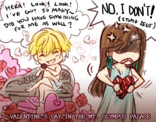 Valentine's Day in Mt. Olympus by zeldacw