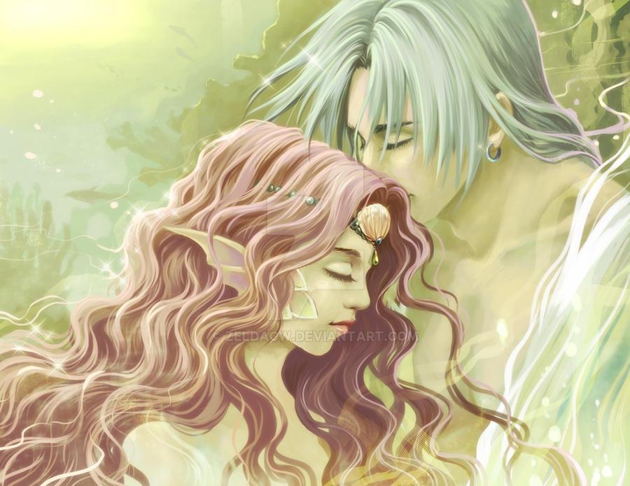 MYth BU: Poseidon x Amphitrite by zeldacw