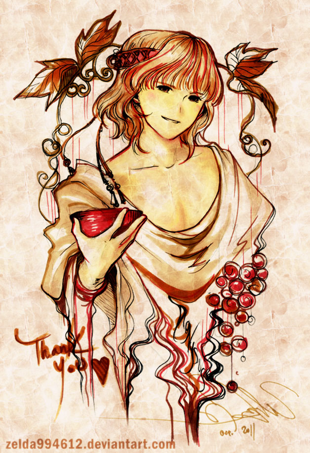 MYth: Dionysus by zeldacw on DeviantArt  Dionysus Drawing
