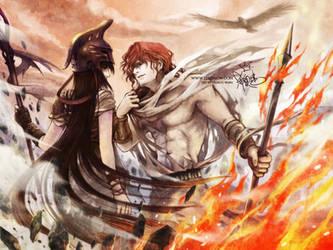 Athena x Ares by zeldacw