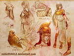 Outfit Sketch- Athena