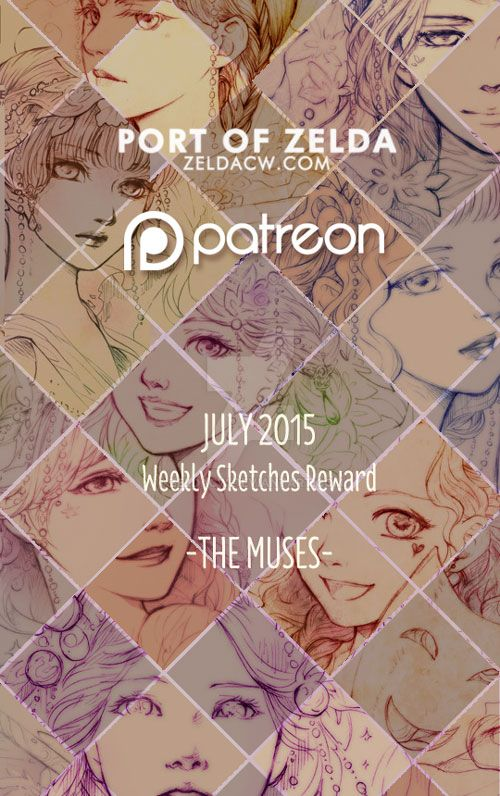 Patreon Sketch Reward: The Muses by zeldacw