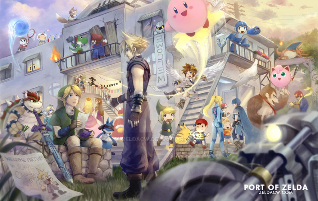 SSB4 Welcome Party by zeldacw