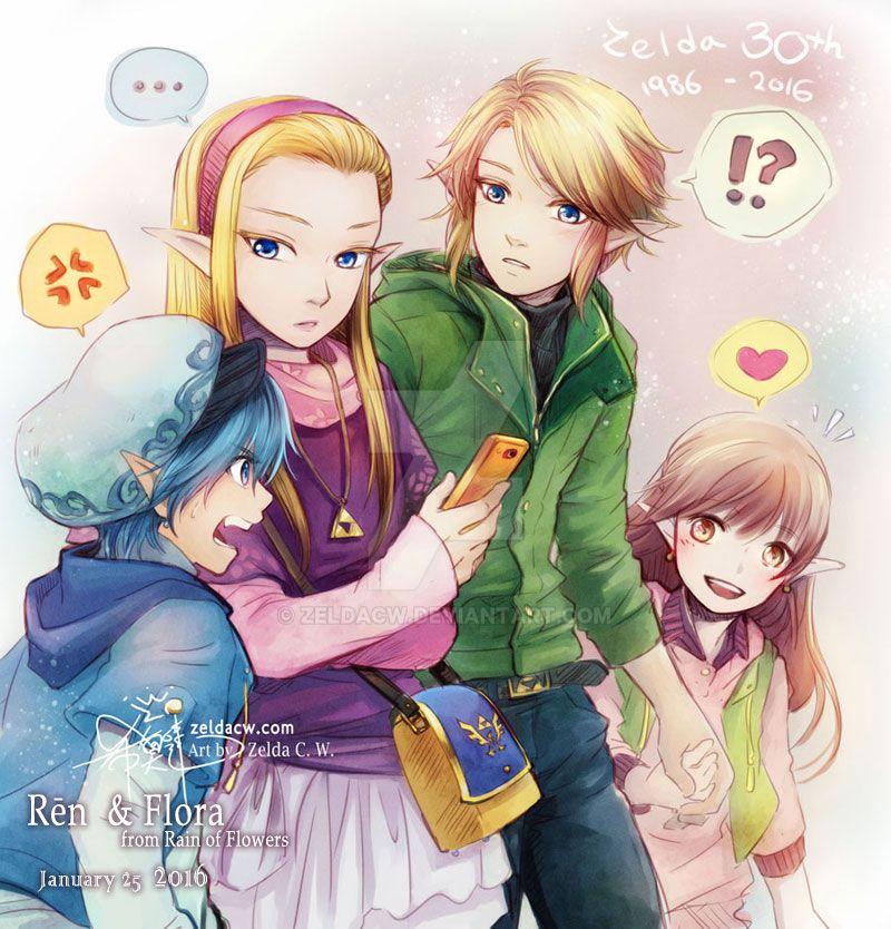 Zelda's 30th anniversary x R.O.F twins Birthday by zeldacw