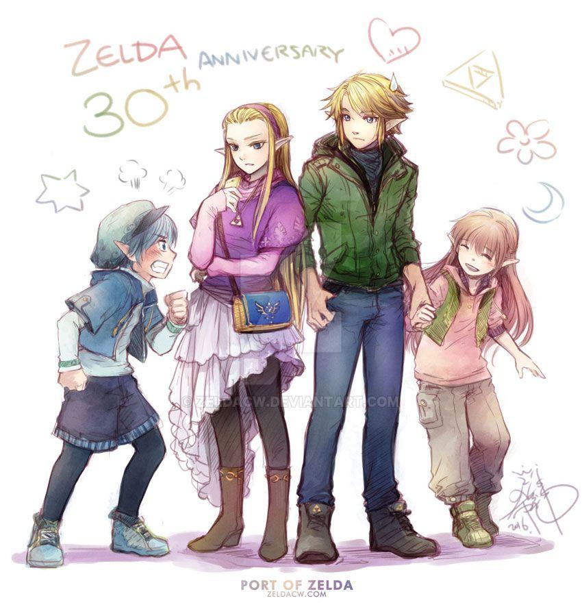 Zelda's 30th anniversary x R.O.F twins Birthday II by zeldacw