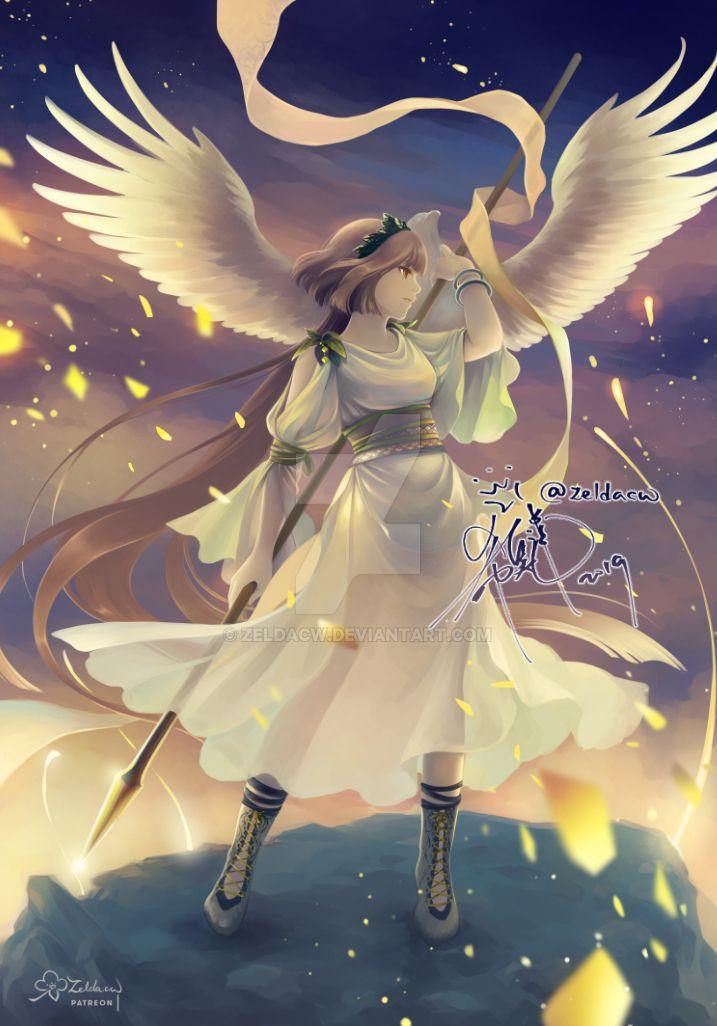 MYth: Athena + Nike by zeldacw