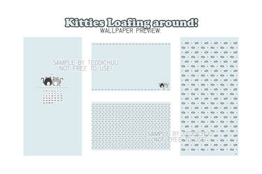 [DL Pack] Kitties Loafing Around - Wallpaper Pack!