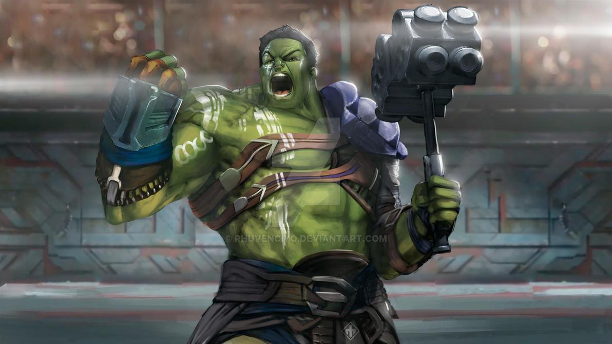 Hulk Ragnarok Sketch by rhuvenciyo