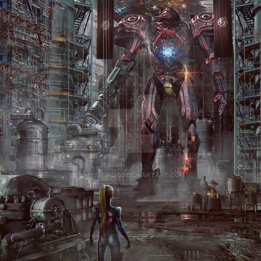 Big Samus robot suit by rhuvenciyo