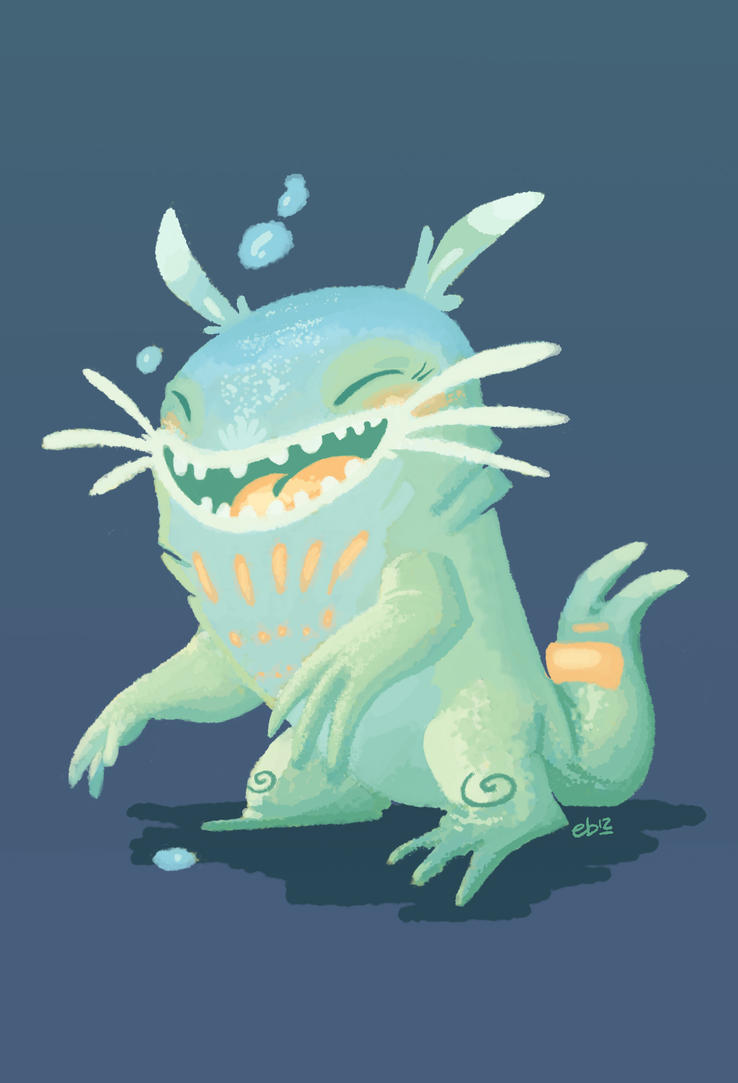 Mr Nostalgia Cute Monster by hooraylorraine