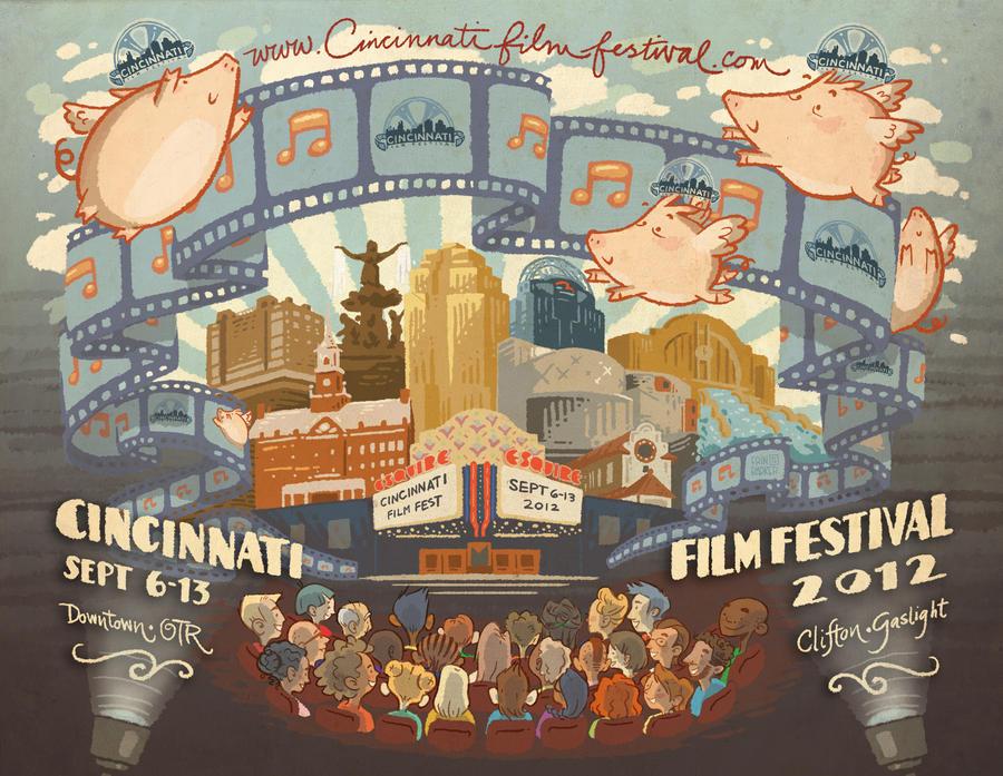 Cincinnati film fest mural by hooraylorraine on deviantart for Cincinnatus mural