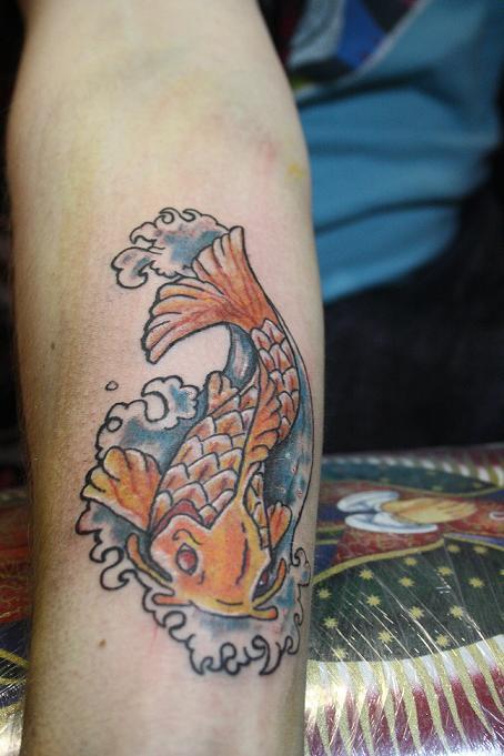 Small koi fish tattoo by bttattoo on deviantart for Small koi fish tattoo