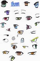 anime eyes study by Gaspodedawonderdog