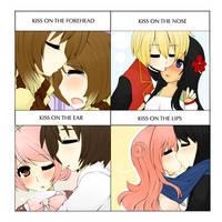 - the kissing meme - by Roi-tan