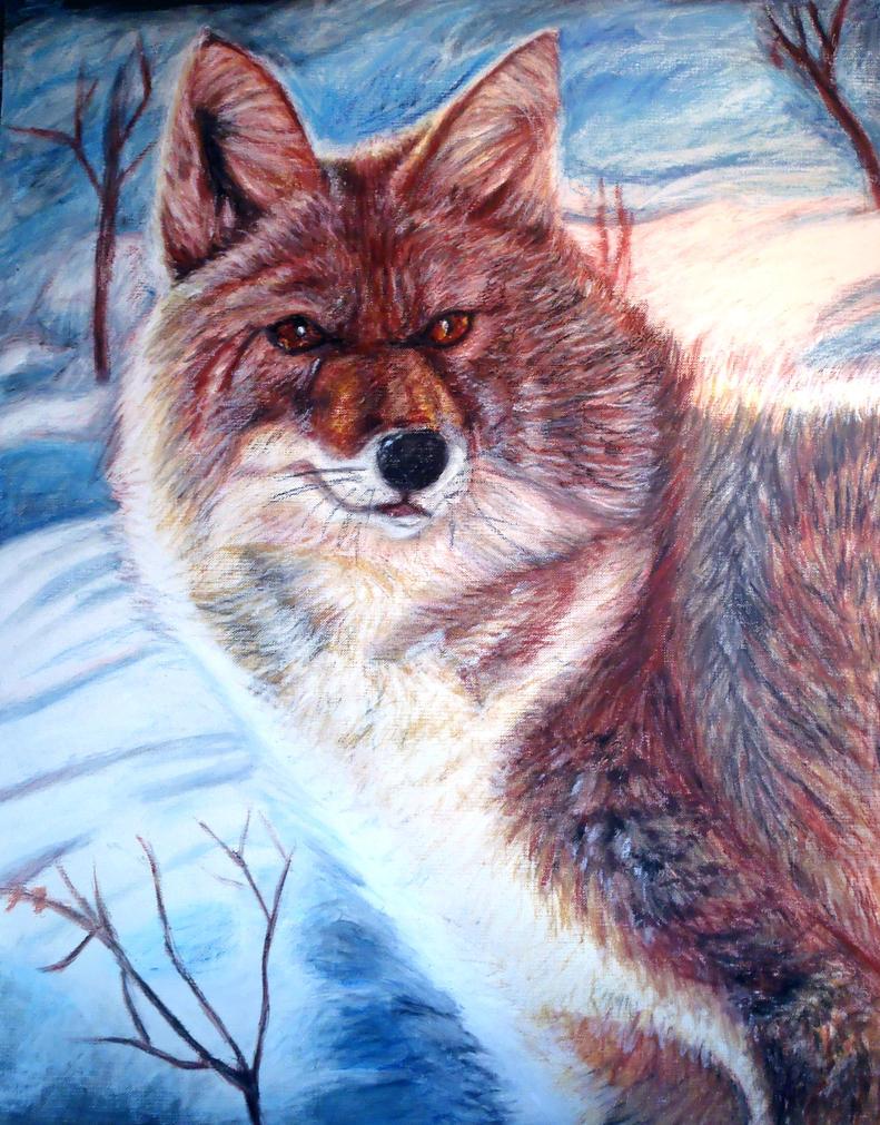 Fox in Winter by Meorow