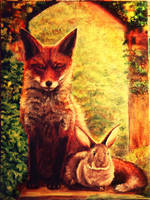 The Fox and the Rabbit by Meorow