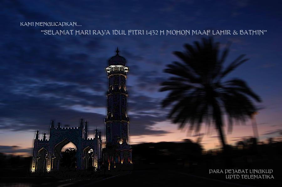 KARTU UCAPAN IDUL FITRI 1432 H by kundjathArtworks