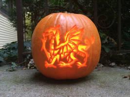 Welsh Dragon Jack-o-latern