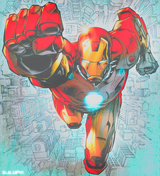 Iron Man color by djlupix
