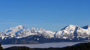 Vue depuis la montagne de Revard en Savoie