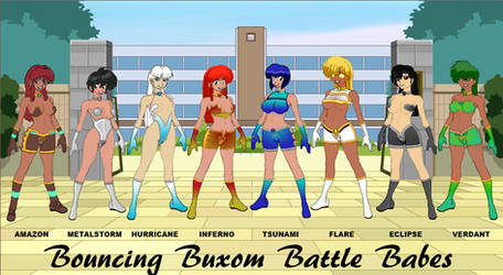 Bouncing Buxom Battle Babes - Initial Regalia