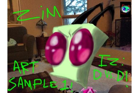 IZ:Dvs.D! Art sample: ZIM by InvaderXMovies