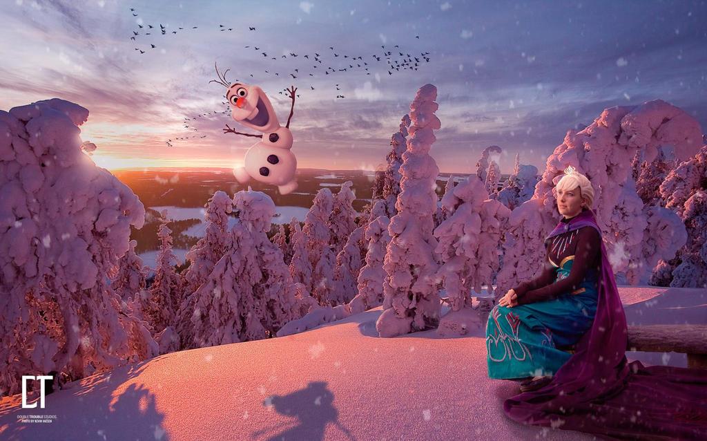 Elsa cosplay-The Snow glows white on the mountain by sakykeuh