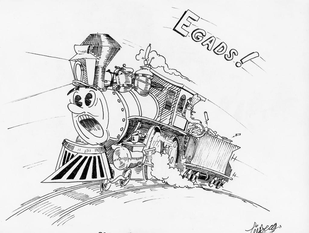 cartoon train by b24liberator on deviantart