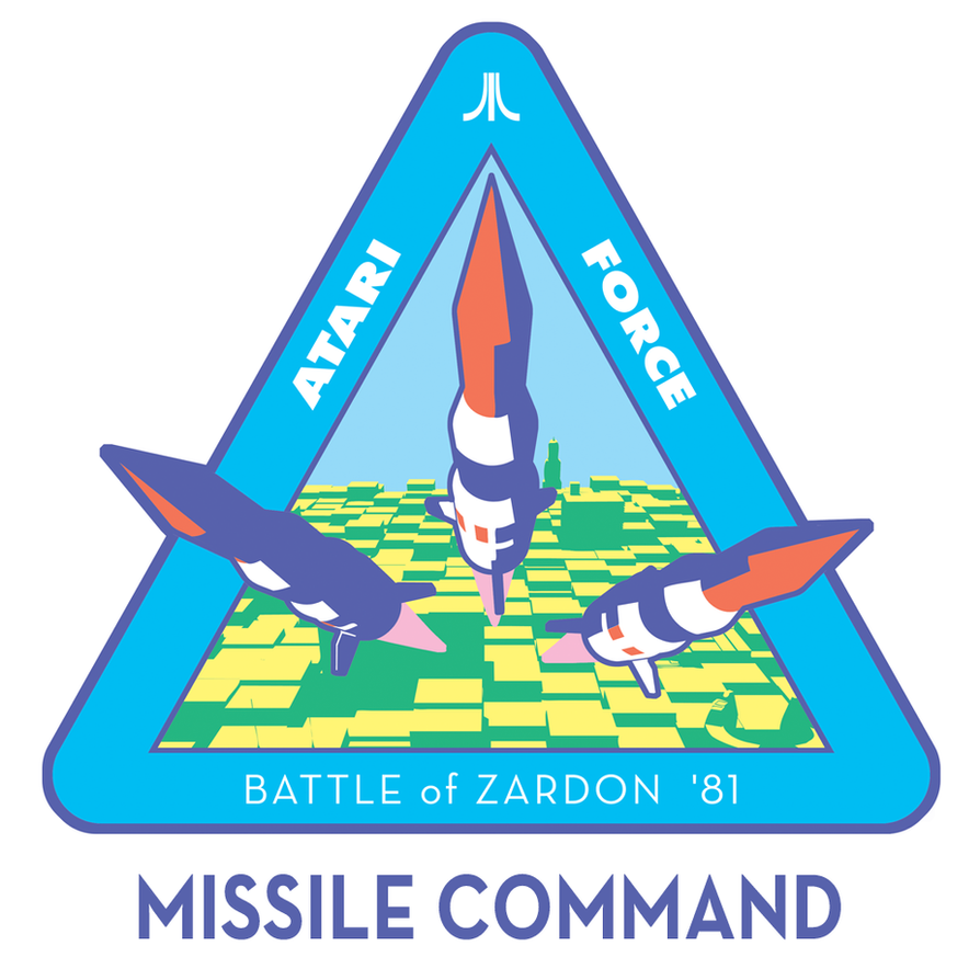 Atari Force Mission Patch 02 - Missile Command by AbelMvada