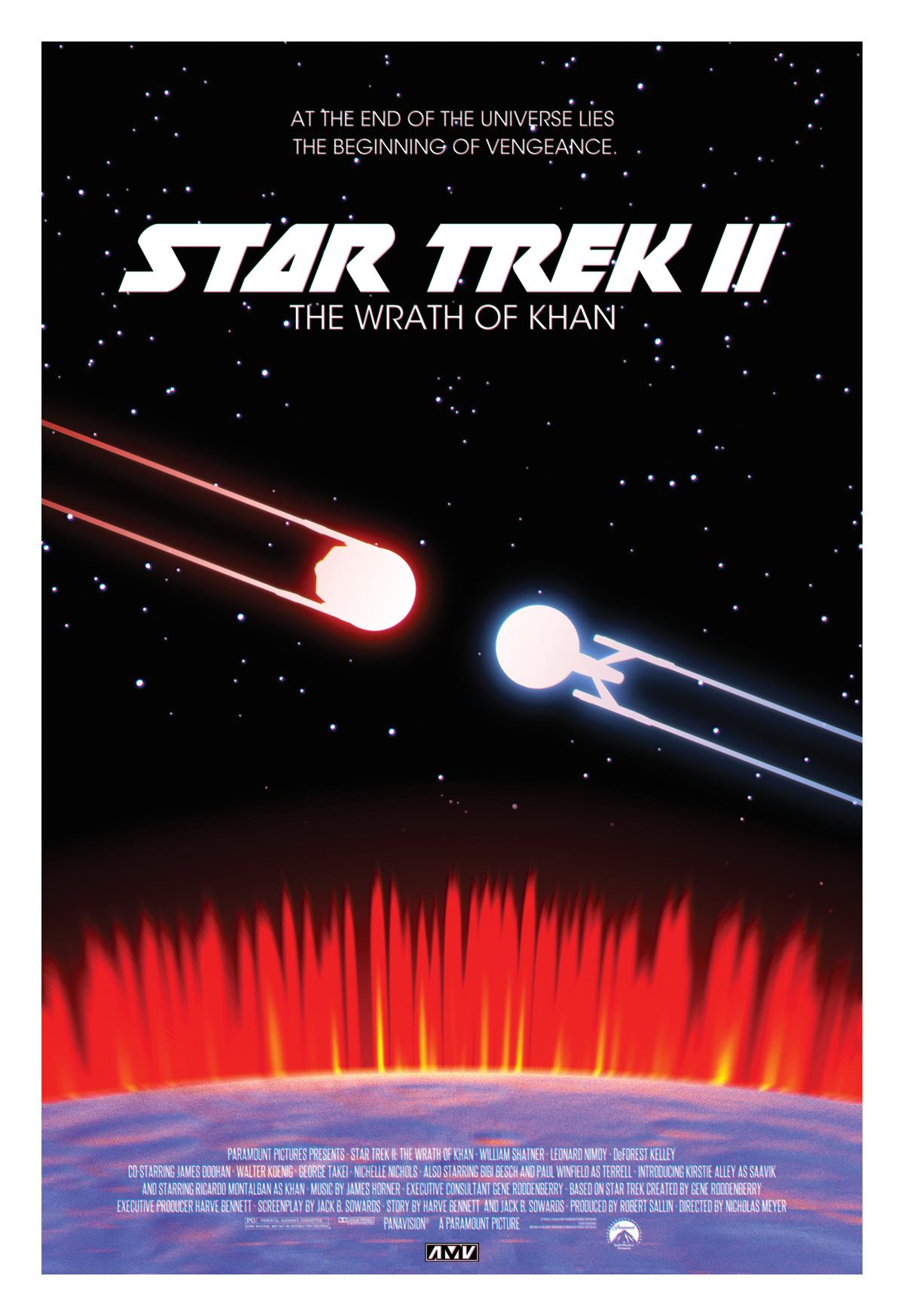 star trek ii the wrath of khan poster by abelmvada on