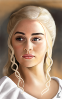 Daenerys targaryen drawing by nassidraws