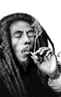 Drawing of bobmarley by nassidraws