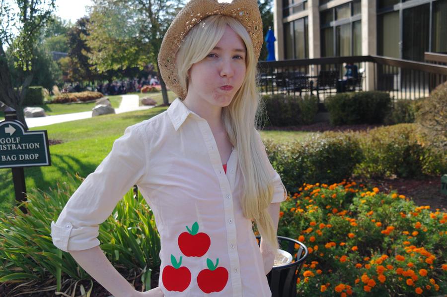 Derpy Face Applejack by LadyEmrys