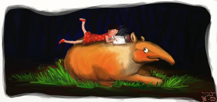 me and my tapir friend by bonzaialsatian