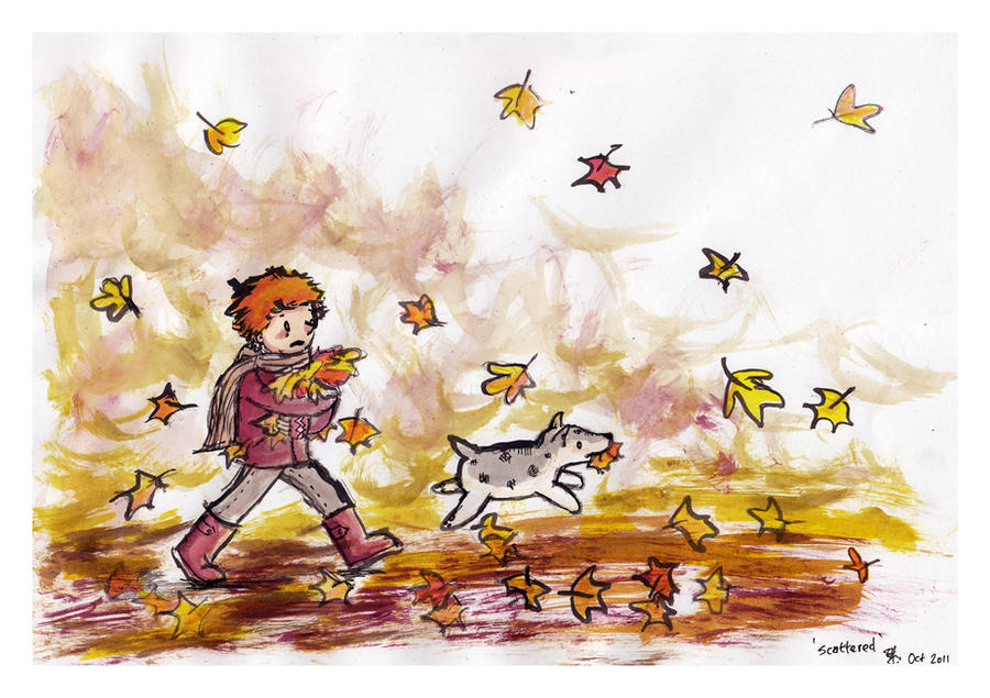 scattered- illustration friday by bonzaialsatian