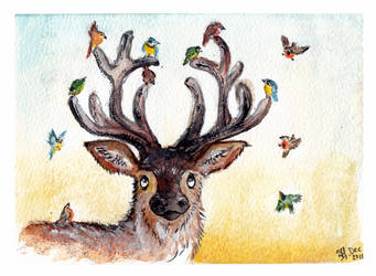 antler decoration by bonzaialsatian