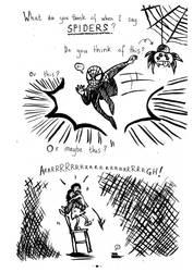 Spiders! Pg1 by bonzaialsatian